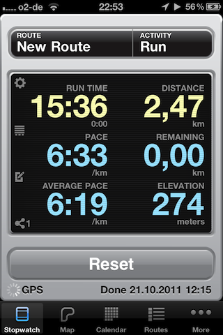 runkeeper mainscreen